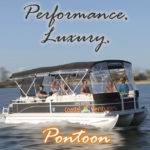 Luxury performance pontoon hire boat