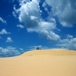 The picturesque sand dunes between you and the ocean