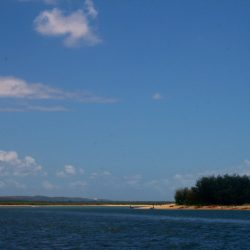 The Pacific Ocean meets the Broadwater at Jumpinpin