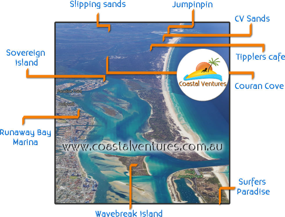 Map of Gold Coast Broadwater