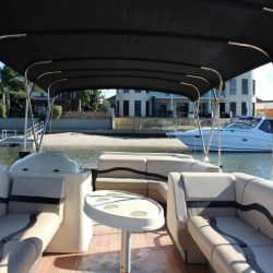 Luxury pontoon boat interior